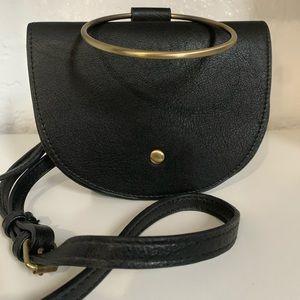 Anthropologie | Small Black Ring Bag